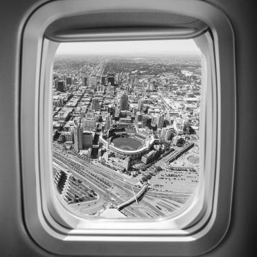 plane window blur