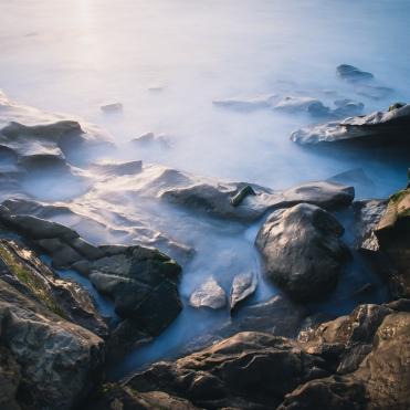 Windansea rocks sunset 2